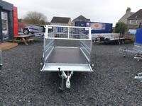 BRAND NEW MODEL 7.7x4.2 SINGLE AXLE TRAILER- CAMPING TRAILER WITH MESH (40cm) MANUAL TIPPING