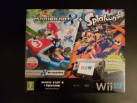 Nintendo Wii U Mario Kart 8 + Splatoon Premium Pack bundle with games