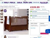 Sleigh cot and cotbed