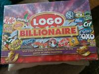 Logo billionaire board game brand new and sealed