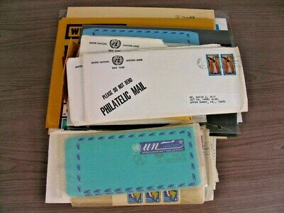 UNITED NATIONS, Assortment of Covers & MINT NH Stamps in folders