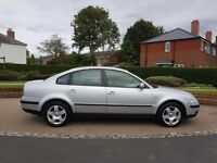 2002. VW Passat. 1.9 TDI Diesel. Saloon. very smooth and reliable car. long MOT. drives superb!