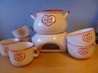 Swedish Ceramic Glögg Set