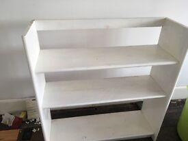 White bookshelf storage project