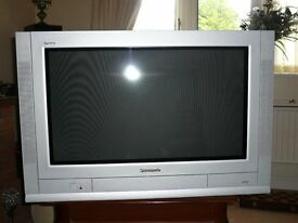 "Panasonic T/V gray in colour 27"" perfect working order good picture very little used."