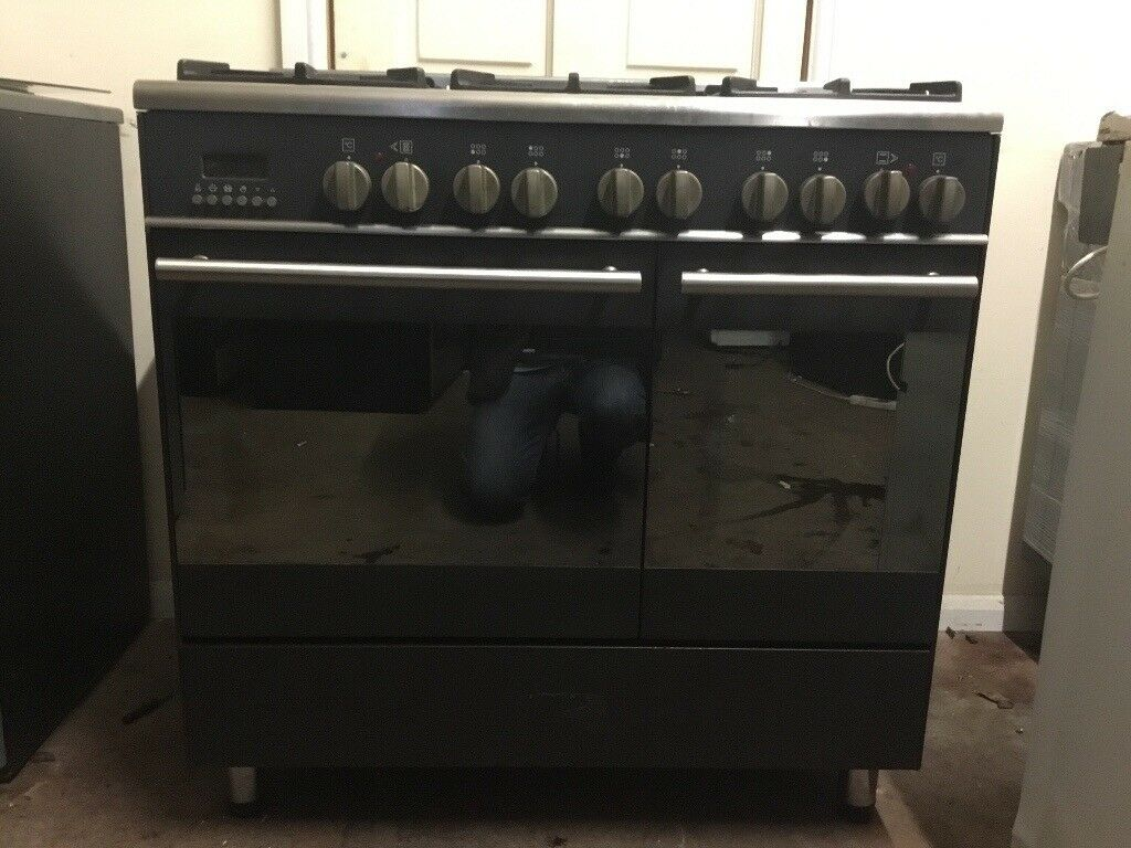 Kenwood range dual fuel gas cooker 90cm black 3 months warranty free local delivery!!!!!!!