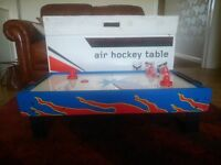 "Table Top ""Air Hockey"" Game : A/C operation (plug-in). Complete with all parts and packaging"