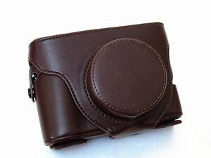 PU Leather Camera Case for  Fujifilm Fuji X100 & X100s Digital Cameras-Coffee