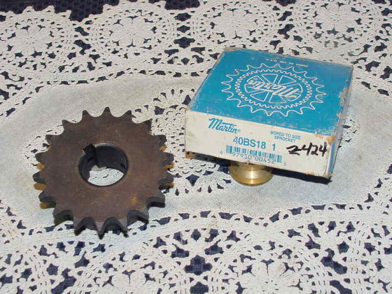 Martin 40BS18 1 Sprocket, 1 Inch Finished Bore, 18 Teeth, NEW Open Box!