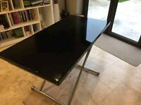 Extending Black Coffee/Dining Table