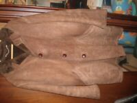 Leather Suede 3/4 length jacket