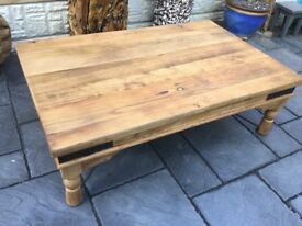 Reclaimed Elm Coffee Table, New / Unused