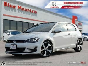 2015 Volkswagen Golf GTI 3 dr Autobahn w Leather & Navi