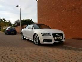 Audi A5 sline convertible white 2010