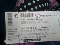 Common people Festival ticket