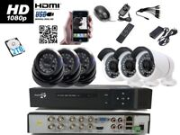 8 Channel DVR 1080P With 6 AHD 2.4M pixel sony pcb CCTV Camera System HDMI IR with 2TB HDD