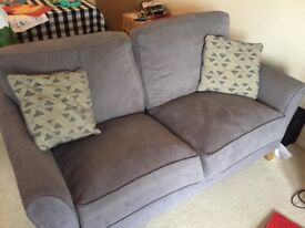 2 & 3 Seater Sofa in Cosmo Fabric - Pewter with Bamboo Slate Scatters