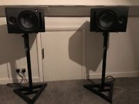 Presonus eris e8 studio monitors and stands