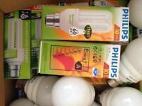 Energy efficient bulbs £0.50 each