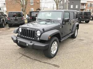 2016 Jeep Wrangler Unlimited SPORT, 2 TOITS