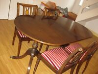 Dining table and four chairs solid wood