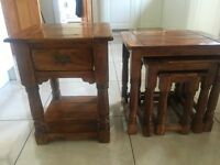 2 sets of side tables