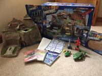 Thunderbirds interactive Tracey island set with vehicles and DVDs