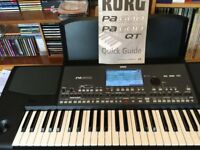 KORG PA600 ARRANGER KEYBOARD. MINT CONDITION, EXTRAS,
