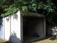 concrete sectional garage 19feetx10feet up and over aluminium door,