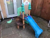 Little tikes play climbing frame, slide & see saw