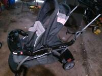 sit n stand baby trend double stroller