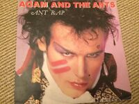 3 Adam & the Ants 45 single records - Ant Rap - Prince Charming - Stand & Deliver