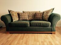 x2 Large Green Sofas (2 seater)