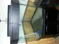 90 gallon corner tank stand canapy and light