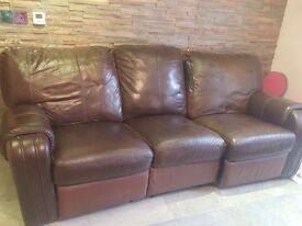 FREE Dark Brown Leather Sofa Suite FREE