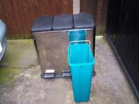 stainless steel recycling pedal bin