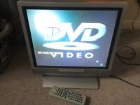 17in LCD TV Small Television with Remote Control
