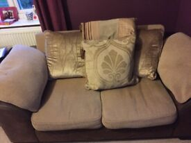 I two. Two seater sofa for sale very good condition