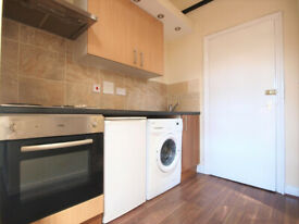 A spacious studio flat with a private garden located in Stamford Hill in a victorian conversion