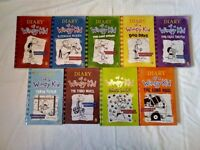 Diary of a Wimpy Kid book collection. Books 1 to 9.