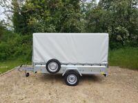 Car Trailer with canvas cover BOX 9ft ALKO 750 kg Tilt
