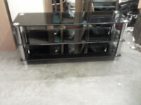 EXTRA LARGE GLASS 3 TIER TV TABLE STAND - GREAT CONDITION