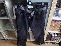 Mens Next Boot Cut Jeans in Black size 32 S New