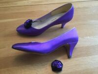 Hand dyed satin shoes size 5.5-6
