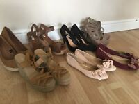Selection of size 7 ladies shoes