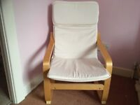 Child's IKEA Poang Chair with birch veneer in immaculate condition