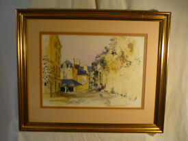 David Birtwhistle (b1947) Signed Watercolour Painting Quimper France Framed 22inch;very collectable-