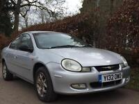 CHRYSLER NEON **TOP SPEC** MOT EXPIRES MARCH 2018** COMPREHENSIVE SERVICE HISTORY** 1 OWNER