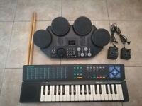 Yamaha keyboard & drums