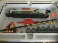 Pool, Table tennis and Hockey table. (Fisher Price) including all balls, cues, pockets etc.